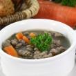 liver spaetzle soup — Stock Photo #6911200