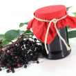 elderberry jelly — Stock Photo