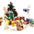 Stock Photo: Wooden figures in the nice mess