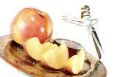 Honig und apple — Stockfoto