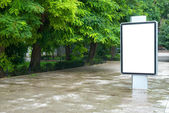 Blank billboard — Stok fotoğraf