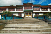 Indian buddhistic monastery — Stockfoto