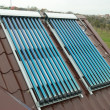 Stock Photo: Vacuum solar water heating system