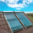 Vacuum solar water heating system — Foto Stock