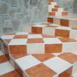 Royalty-Free Stock Photo: A abstract stairs with ceramic tiles.