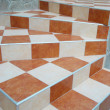 A abstract stairs with ceramic tiles. — Stock Photo