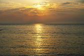 Orange sunset on the ocean. — Stock Photo