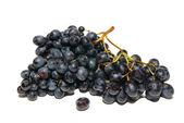Raisins noirs isolés sur blanc. — Photo