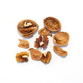 A walnuts isolated on white. — Stock Photo