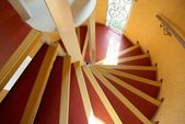 Spiral staircase in a house. — Stock Photo