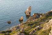 A coastline with many big rocks. — Stock Photo