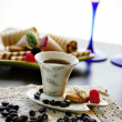 Cup of coffee with sweets — Stock Photo #6824727