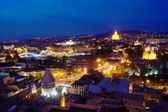 Night view to Tbilisi Old town — Stock Photo