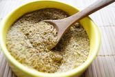 Variedad de especias: svan sal, azafrán y cilantro — Foto de Stock