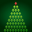 Royalty-Free Stock Vector Image: Arrow Christmas tree, business theme