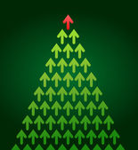 Arrow Christmas tree, business theme — Stock Vector