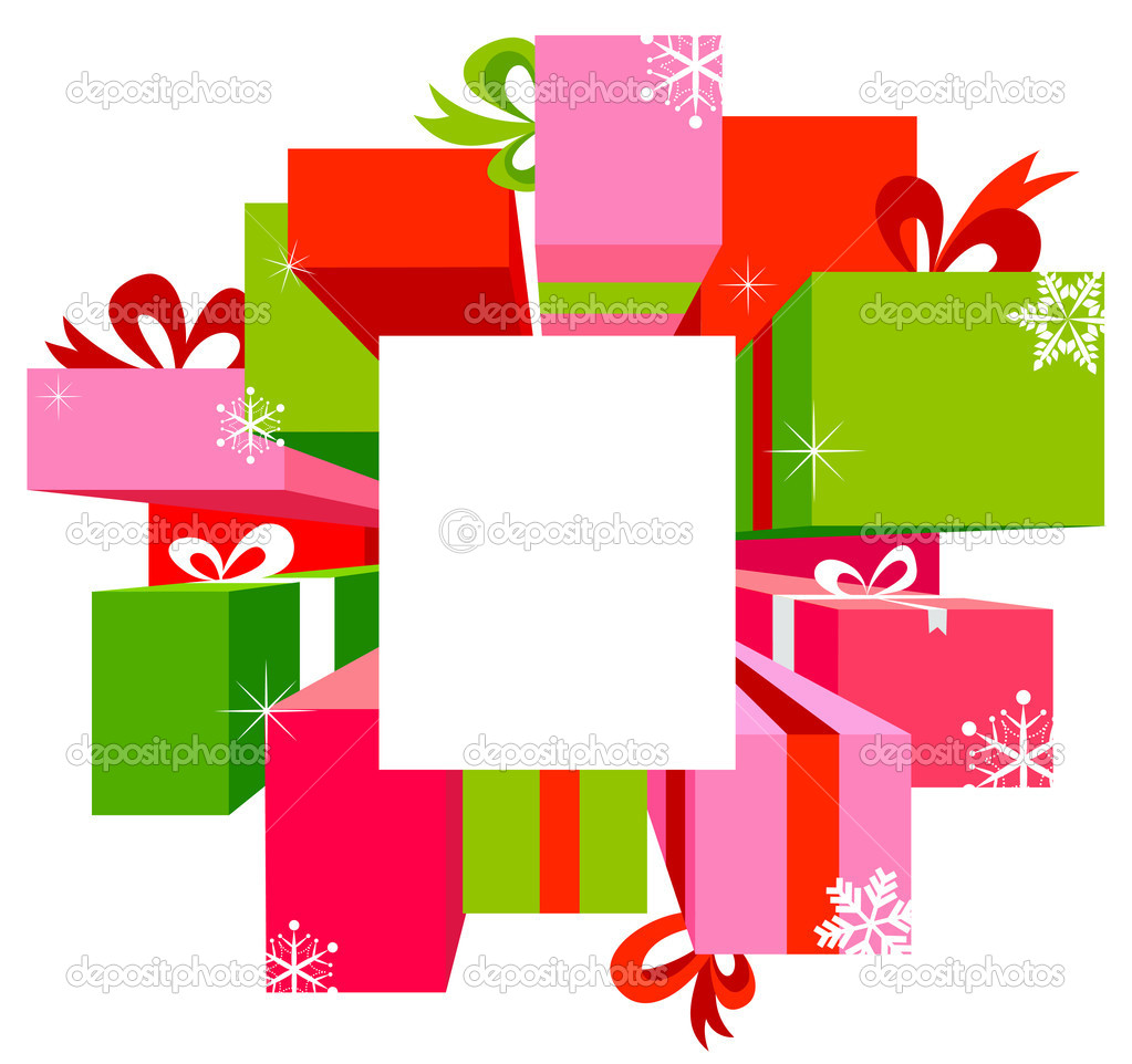 Christmas sal , vector background with frames  Stock Vector #6939868