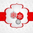 Christmas background with retro pattern — Stok Vektör #7124865