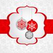 Stock vektor: Christmas background with retro pattern