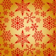 Christmas background with snowflakes pattern — Vector de stock