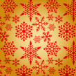 Christmas background with snowflakes pattern — Stock vektor