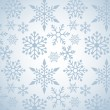 Christmas background with snowflakes pattern — ストックベクタ