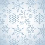 Vánoční pozadí vzorkem sněhové vločky — Stock vektor