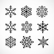Royalty-Free Stock Vector Image: Christmas background with snowflakes icons