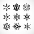 Christmas background with snowflakes icons — Vettoriali Stock