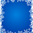 Christmas background with snowflakes pattern — Stockvectorbeeld