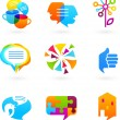 Collection of social media and network icons — Stock Vector #7125737