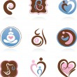 Royalty-Free Stock Vector Image: Collection of motherhood icons