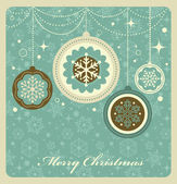 Christmas background with retro pattern — Stockvector