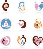Verzameling van moederschap icons — Stockvector