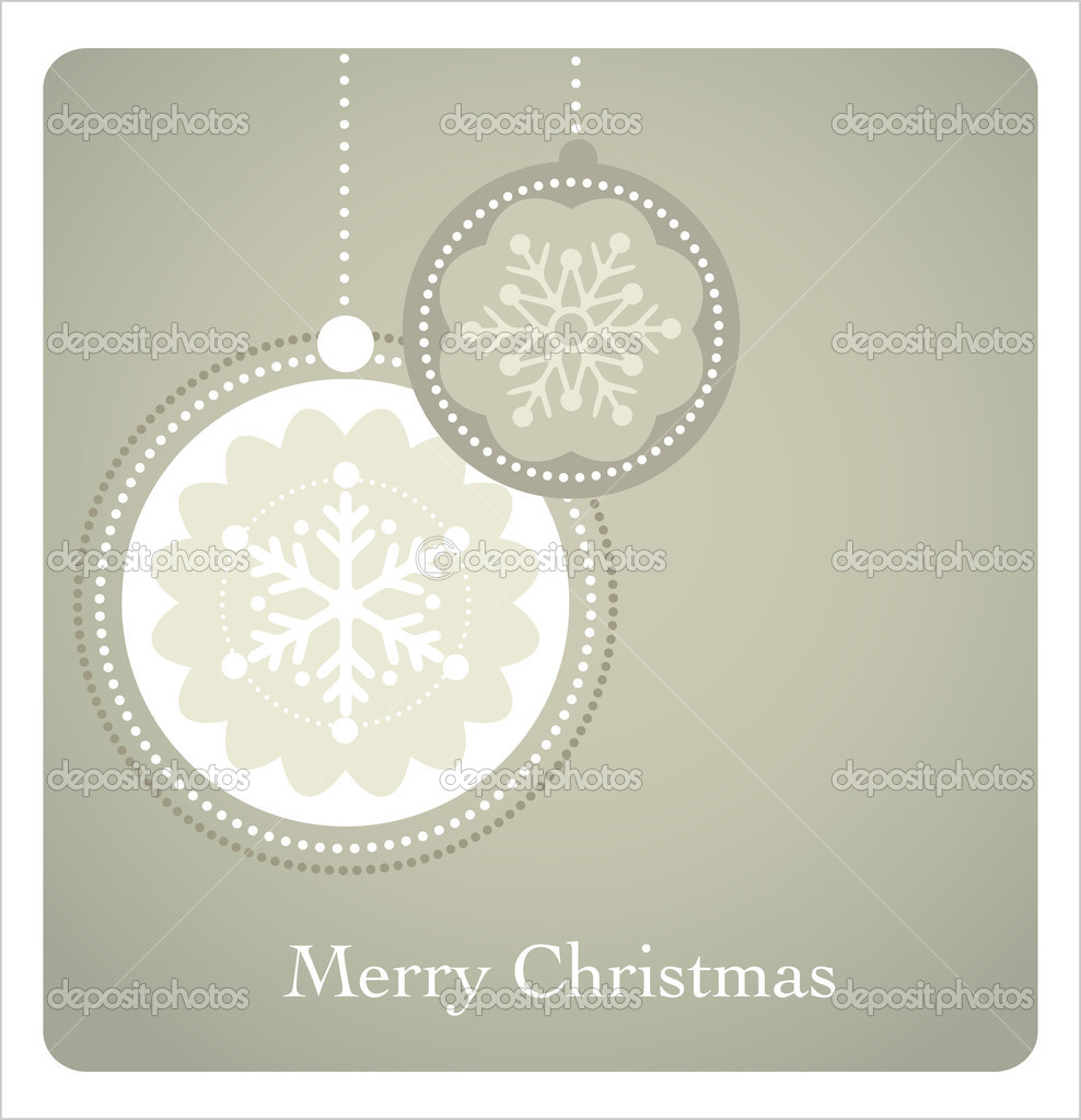 Christmas background with retro pattern, vector — Stock Vector #7125061
