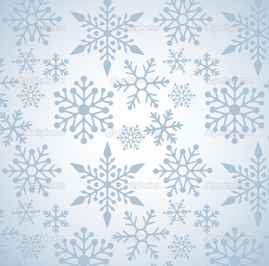 Christmas background with snowflakes pattern, vector — Stock Vector #7125554