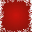 Christmas red background with snowflakes pattern — Stock Vector