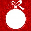 Royalty-Free Stock Vectorielle: Christmas red background with snowflakes pattern