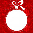 Christmas red background with snowflakes pattern - Image vectorielle