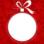 Vánoční červené pozadí vzorkem sněhové vločky — Stock vektor