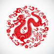 Year of Dragon, Chinese New Year — Stock Vector #7344194
