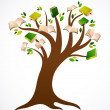 Book tree vector ilustration - Stock Vector