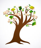 Book tree vector ilustration — Stock Vector