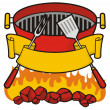 Stock Vector: Barbeque grill