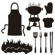 Barbeque silhouettes — Stock Vector #6830944