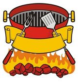 Barbeque grill — Stock Vector