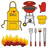 Barbeque icons — Stock Vector