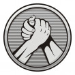 Arm wrestling icon — Stok Vektör
