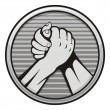 Arm wrestling icon — Stockvectorbeeld