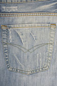 Blue jeans with pocket — Stock Photo